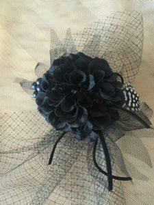 ブラックダリアのフェザー2wayヘッドドレス