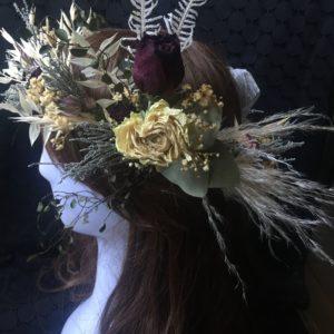 【現品購入】ドライフラワーの花冠