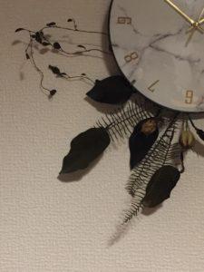 【現品購入】ドライフラワークロック(掛け時計)