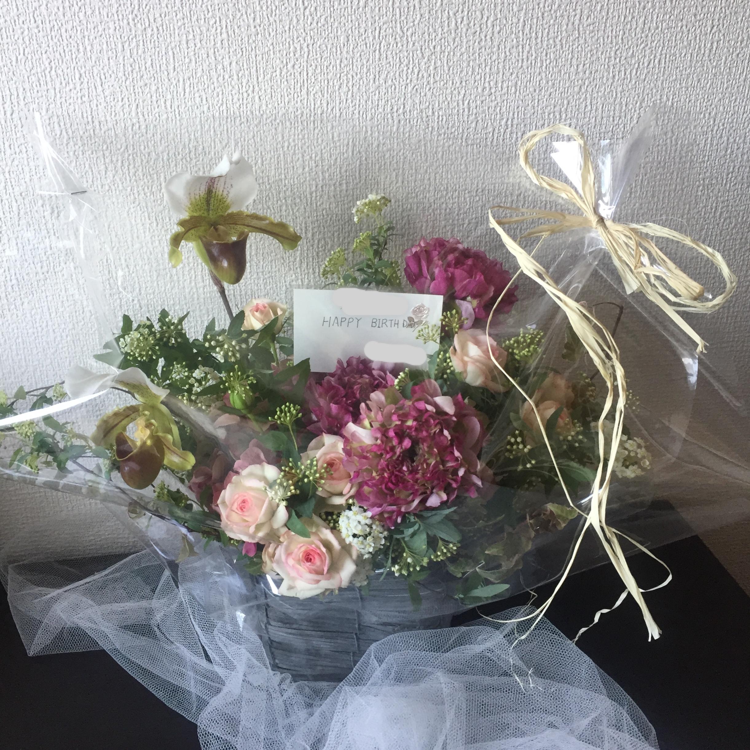【お引取り】生花・アレンジメントLサイズ